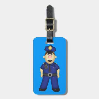 Cute Cartoon Police Officer Luggage Tag