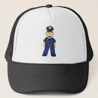 Cute Cartoon Police Officer Trucker Hat