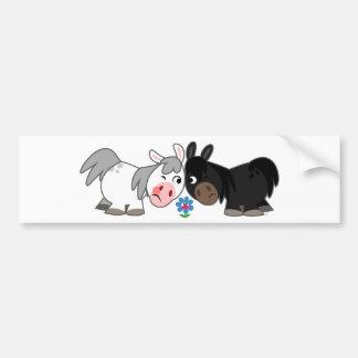 Cute Cartoon Ponies Standoff  Bumper Sticker
