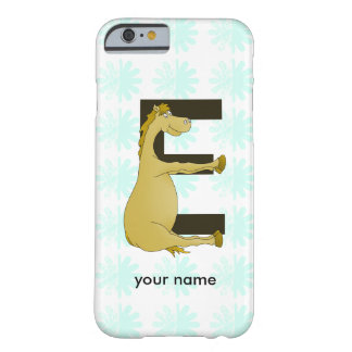 Cute Cartoon Pony Monogram E Barely There iPhone 6 Case