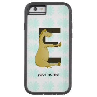 Cute Cartoon Pony Monogram E Tough Xtreme iPhone 6 Case