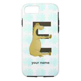 Cute Cartoon Pony Monogram E iPhone 7 Case