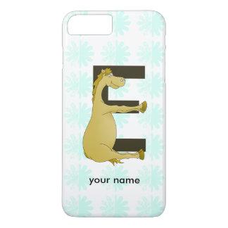 Cute Cartoon Pony Monogram E iPhone 7 Plus Case
