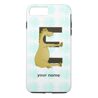 Cute Cartoon Pony Monogram E iPhone 7 Plus Case