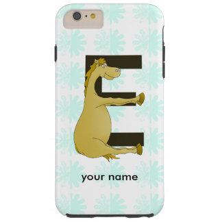 Cute Cartoon Pony Monogram E Tough iPhone 6 Plus Case
