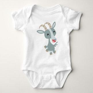 Cute Cartoon Prancing Goat  Baby Apparel Baby Bodysuit