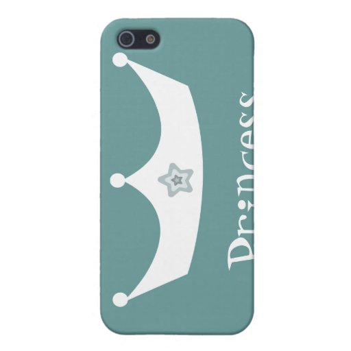 Cute Cartoon Princess Crown Customizable Case For iPhone 5