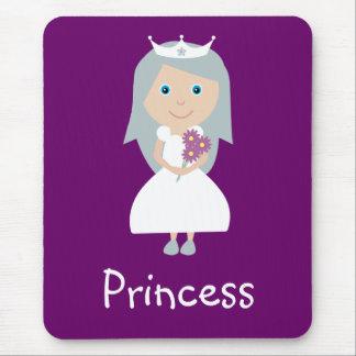 Cute Cartoon Princess Customizable Purple Mouse Pad