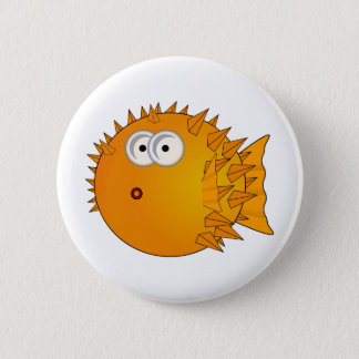 Cute Cartoon Puffer Fish 6 Cm Round Badge