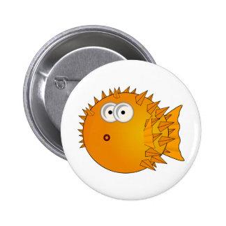 Cute Cartoon Puffer Fish 6 Cm Round Badge
