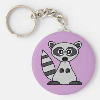 Cute Cartoon Raccoon Key Ring