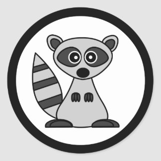 Cute Cartoon Raccoon Stickers