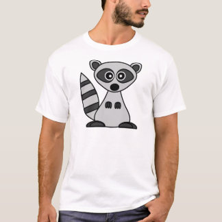 Cute Cartoon Raccoon T-Shirt