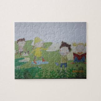 Cute Cartoon Rainy Puzzle