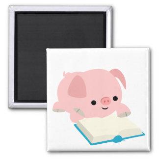 Cute Cartoon Reading Piglet  Magnet