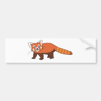 Cute Cartoon Red Panda Sticking Out Tongue Bumper Sticker