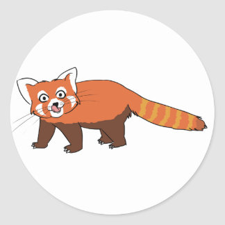 Cute Cartoon Red Panda Sticking Out Tongue Sticker