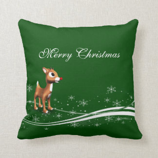 Cute Cartoon Reindeer Christmas Cushion