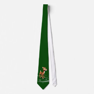Cute Cartoon Reindeer Christmas Tie