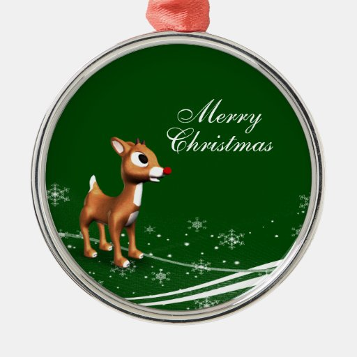 Cute Cartoon Reindeer Christmas Tree Ornament