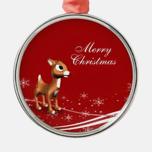 Cute Cartoon Reindeer Christmas Ornament