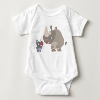 Cute Cartoon Rhino Baby & Big Rhino Baby T-Shirt