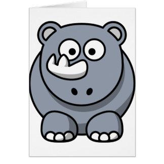 Cute Cartoon Rhino Card