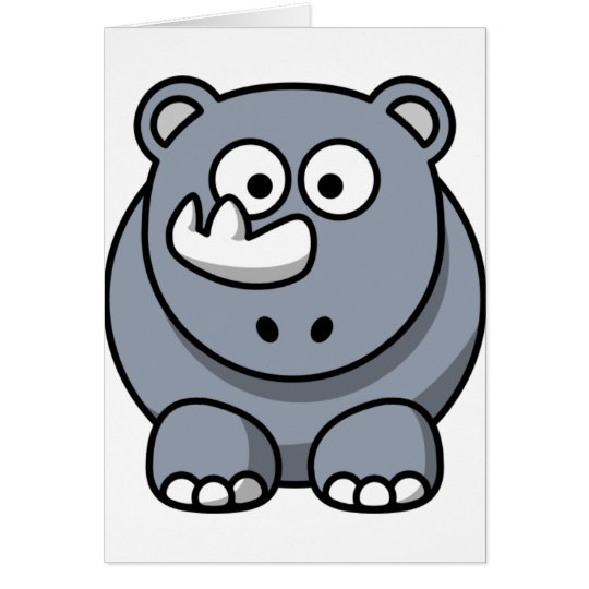 Cute Cartoon Rhino Card