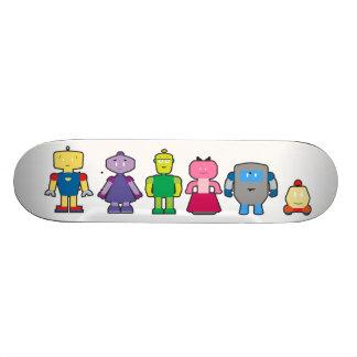Cute Cartoon Robots 21.3 Cm Mini Skateboard Deck