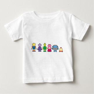 Cute Cartoon Robots Baby T-Shirt