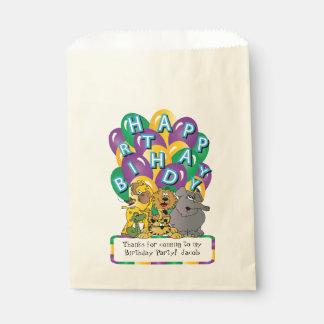 Cute Cartoon Safari Animals Favour Bags