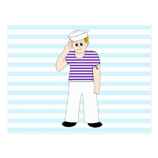 Cute Cartoon Sailor Postcards