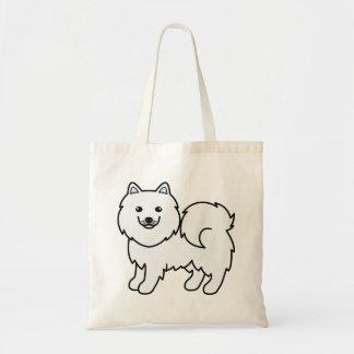 Cute Cartoon Samoyed Budget Tote Bag