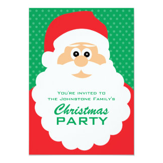 Cute Cartoon Santa Christmas Party Card