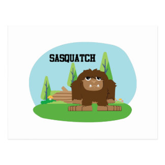 Cute Cartoon Sasquatch Postcard