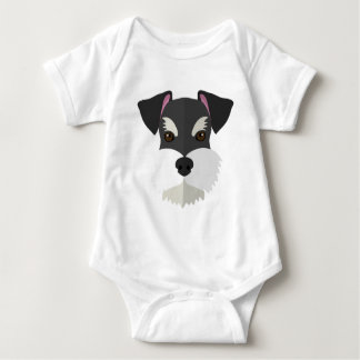 Cute Cartoon Schnauzer! Baby Bodysuit