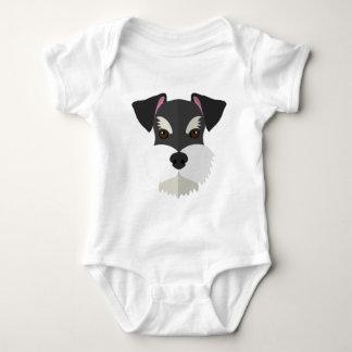 Cute Cartoon Schnauzer! Baby Bodysuit