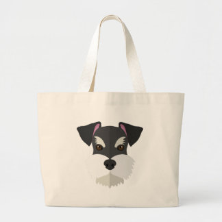 Cute Cartoon Schnauzer! Large Tote Bag