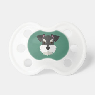 Cute Cartoon Schnauzer! Pacifier