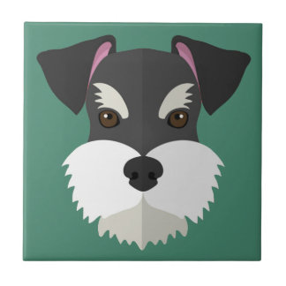 Cute Cartoon Schnauzer! Tile