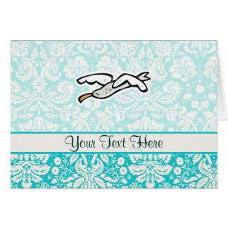 Cute Cartoon Seagull Card