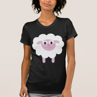 Cute cartoon sheep black & white T-shirt