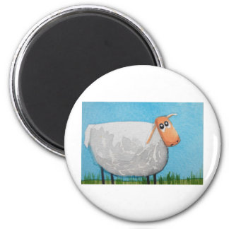 Cute cartoon sheep Gordon Bruce art 6 Cm Round Magnet