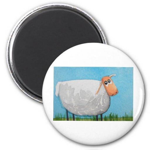 Cute cartoon sheep Gordon Bruce art Refrigerator Magnet