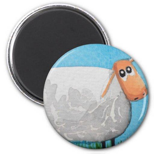 Cute cartoon sheep Gordon Bruce art Magnet