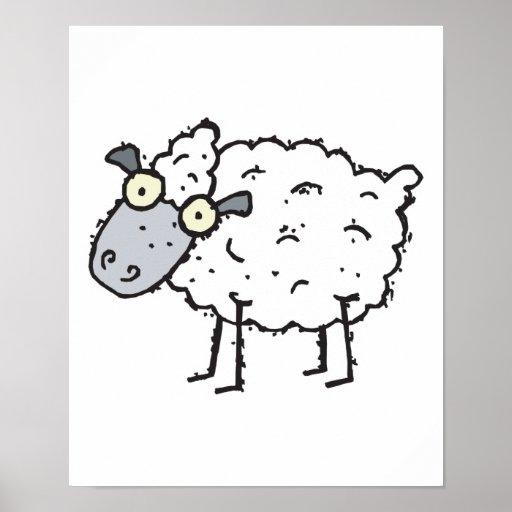 cute cartoon sheep posters