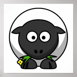 Cute Cartoon Sheep Poster
