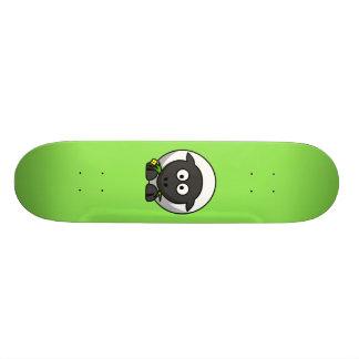 Cute Cartoon Sheep With Green Background Skate Decks