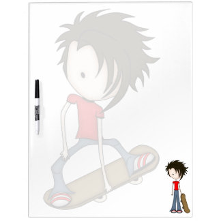 Cute Cartoon Skateboard Boy Dry Erase Board