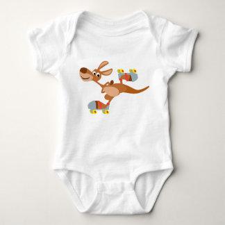 Cute Cartoon Skating Kangaroo Baby Apparel Baby Bodysuit